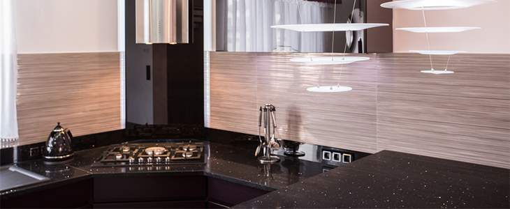 worktops in a contemporary kitchen