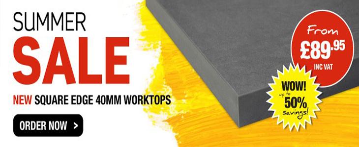40mm square edge worktop sale