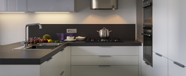 Square edged worktops to suit every kitchen design