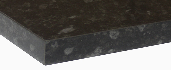 Everest Gloss 40mm Laminate Kitchen Worktop With ABS Square Edging