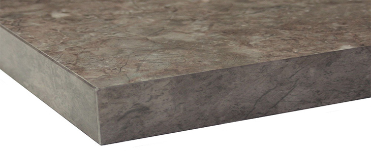 Brown Granite Gloss Marble Effect 40mm Laminate Kitchen Worktop With New Square Edge