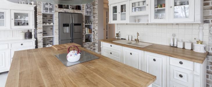 Rustic Kitchen Blocked Oak Worktops