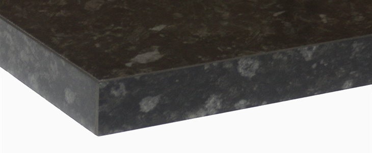 Everest Black Gloss Laminate Kitchen Worktop