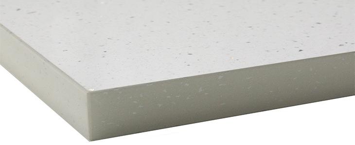white sparkle gloss laminate worktop