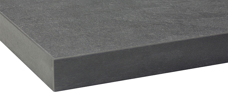 charcoal square edge worktop