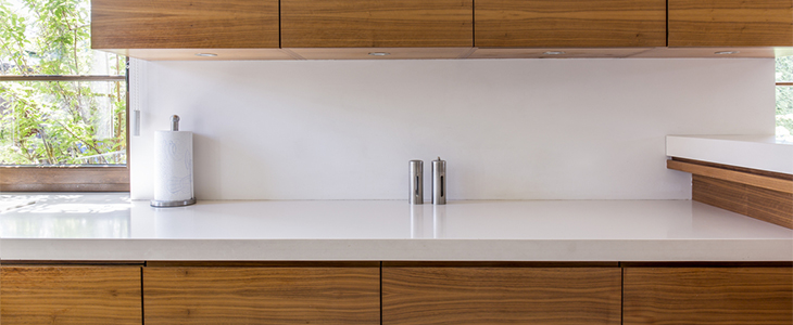 white gloss square edge worktop