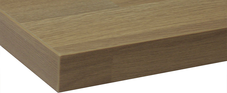 wood effect square edge worktop