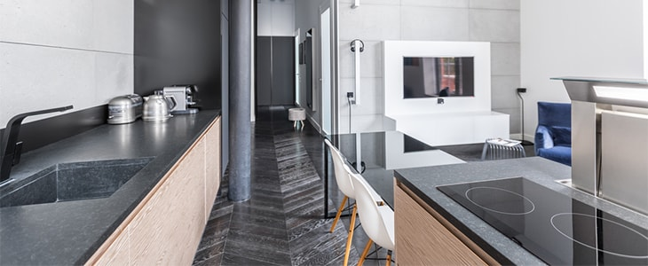 how to get the industrial chic look for your kitchen feature image