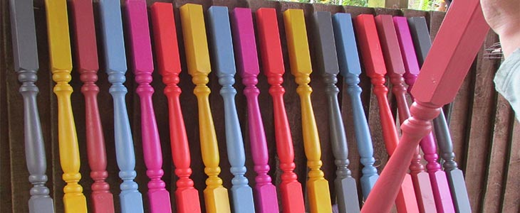 painted spindles