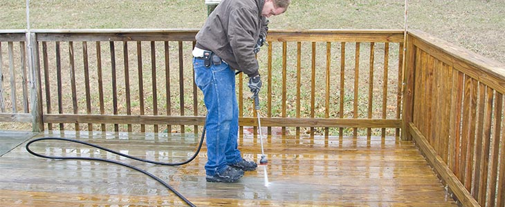 washing decking