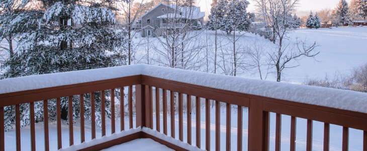 snow covered decking