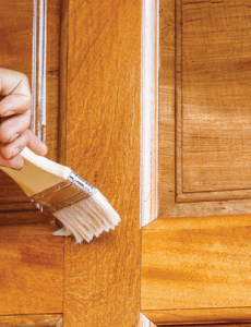 varnishing an oak internal door