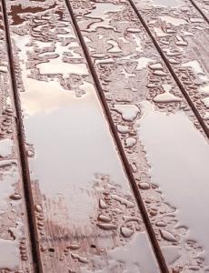 rain on composite decking