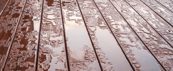 rain on composite decking