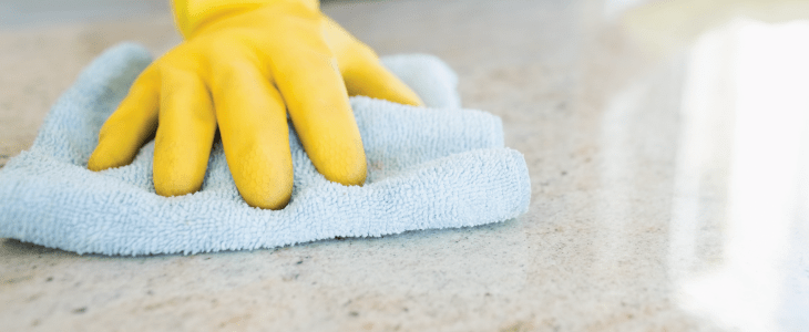 cleaning worktop