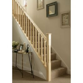 Pine Staircase And Landing Kit With 41mm Chamfered
