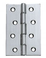 4 inch polished chrome DSW butt hinges