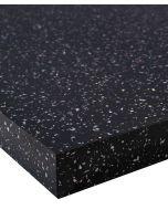 Black sparkle gloss Strass Noir Wilsonart 40mm Square Edge Worktop