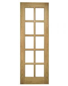 Deanta Bristol Glazed Oak Internal Door