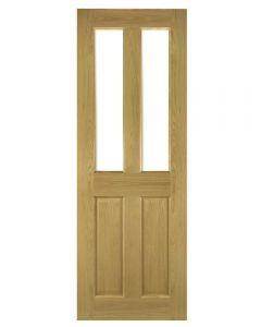 Deanta Bury Pre-finished Glazed Internal Oak Door