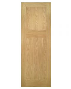 Deanta Internal Cambridge Unfinished Oak Door