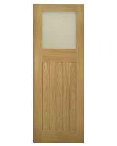 Deanta Internal Cambridge Unfinished Glazed Oak Door