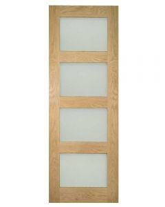 Deanta Internal Obscure Glazed Coventry Pre-Finished Oak Door
