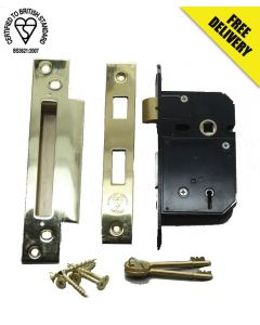 Dale 63mm 5 Lever Mortice Sashlock to BS3621:2007