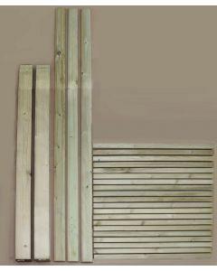 2.4m Complete Modern Square Decking Handrail Kit