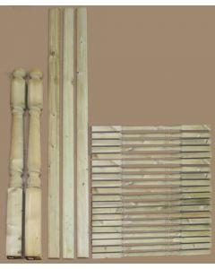 2.4m Complete Turned Decking Handrail Kit