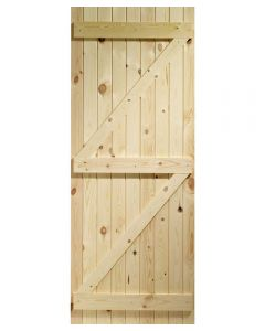 External Pine Ledged & Braced Square Top Gate