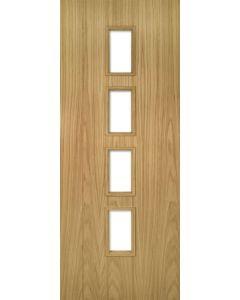 Deanta Galway Glazed Internal Oak Door