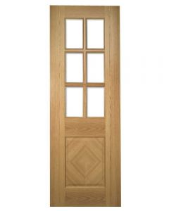 Deanta Internal Glazed Kensington Pre-Finished Oak Door