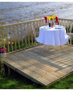 3.0X1.8M Complete Value Decking Kit with Colonial Handrail/Balustrade
