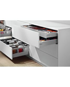 Blum Antaro Metallic Grey - 1 x Internal Cutlery & 2 x Pan Drawer Pack