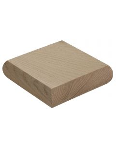 Oak Low Profile Newel Cap for 90 x 90mm Newel Post