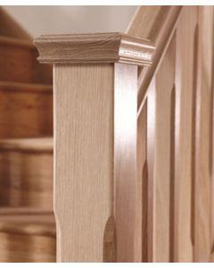 Stop Chamfered Solid Oak Staircase and Landing Kit