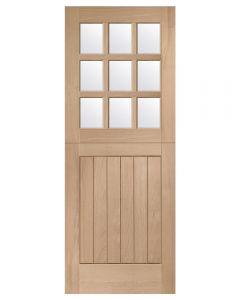 External Oak Un-finished Stable 9-Light Door