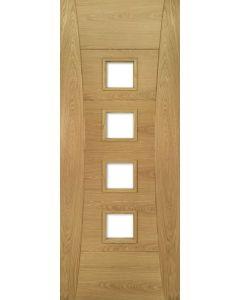 Deanta Internal Glazed Pamplona Pre-Finished Oak Fire Door FD30