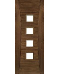 Deanta Internal Pamplona Pre-Finished Walnut Glazed Fire Door FD30