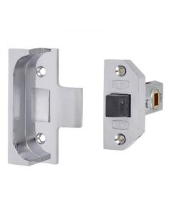 Rebated Tubular Latch - 64mm Case - 44mm Backset
