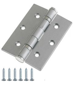 "INTERNAL BALL BEARING HINGES 3""/76mm Satin Chrome Finish"
