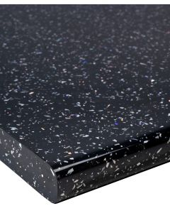 Black Sparkle Gloss Kitchen Worktop 40mm