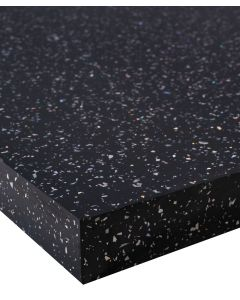 Black sparkle gloss Strass Noir Wilsonart 40mm Square Edge Worktop
