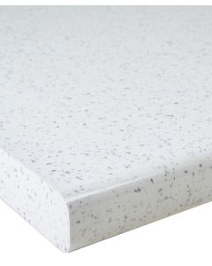 White Sparkle Gloss 40mm Laminate Kitchen Worktop