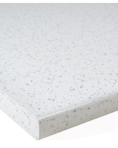 White Sparkle Gloss KItchen Laminate Worktop 30mm