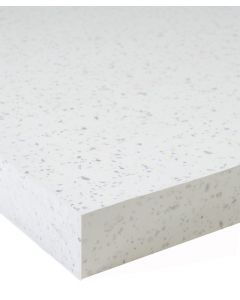 Strass Blanc 40mm Square Edge Worktop