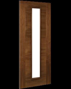 Deanta Internal Seville Glazed Pre-finished Walnut Fire Door