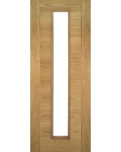Internal Seville Glazed Pre-Finished Oak Fire Door FD30