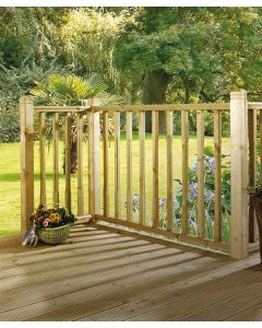 3.6M X 4.8M Contemporary Decking Balustrade Kit + Value 19mm Boards
